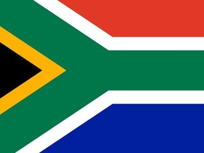 South Africa name flag